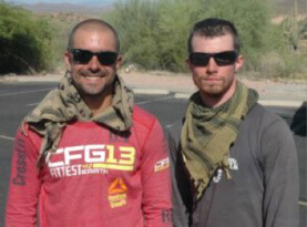 Two Marines Walk for the Wounded, for the Fallen and for our Liberties